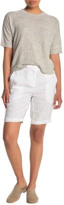 Eileen Fisher Organic Linen Bermuda Shorts (Petite)