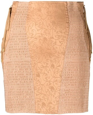 Alberta Ferretti Smock Panelled Straight Skirt