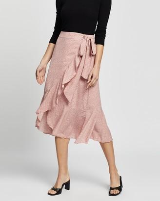 Atmos & Here Wrap Midi Skirt