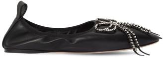Loewe 10mm Embossed Leather Ballerinas