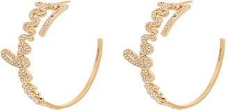 Salvatore Ferragamo Crystal-Embellished Statement Earrings