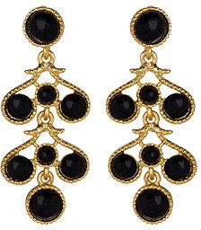Kenneth Jay Lane Black Resin Chandelier Earrings