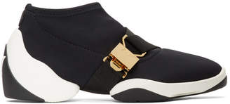 Giuseppe Zanotti Black Light Jump Buckle Sneakers