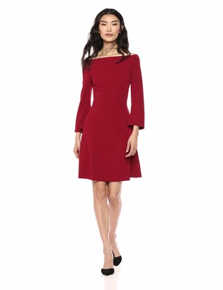 Lark & Ro Amazon Brand Women's Long Sleeve Off the Shoulder Fit and Flare Dress