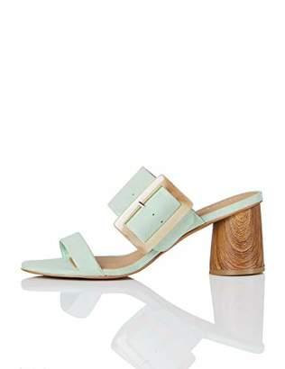 find. Large Buckle Block Heel Open Toe Sandals,3.