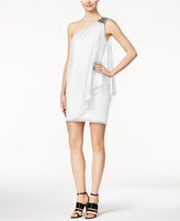Calvin Klein One-Shoulder Draped Sheath Dress