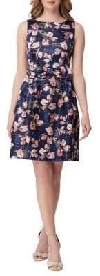 Tahari Arthur S. Levine Floral Bow Fit-&-Flare Dress