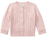 Polo Ralph Lauren Mini Cable Sweater (Infant) (French Pink/Nevis Pony Player) Girl's Sweater