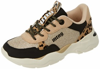 MTNG Boys Angie Track Shoe Yoda Negro/Carina Platino/Loe Beige 13.5 Child UK