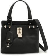 Valentino Garavani Embellished Pebbled-leather Shoulder Bag