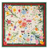 Gucci Women's Flora Web Print Wool & Silk Scarf