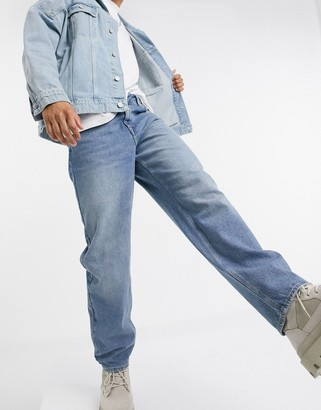 ASOS DESIGN baggy jeans in mid blue 90s wash