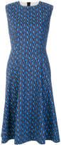 Marni print flared dress
