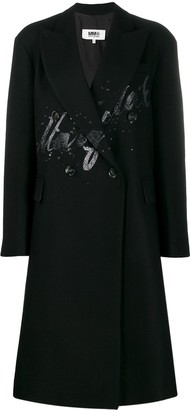 MM6 MAISON MARGIELA button-front splatter coat