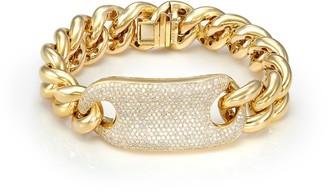Shay 18kt Yellow Gold Jumbo Link Diamond Tag Bracelet