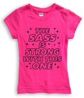 Urban Smalls Hot Pink 'The Sass Is Strong' Fitted Tee - Toddler & Girls