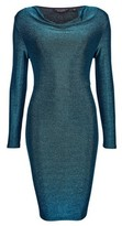 Dorothy Perkins Womens Turquoise Cowl Neck Bodycon Dress