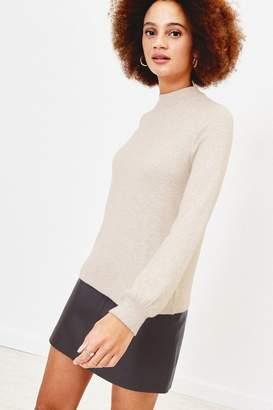 Oasis Womens Natural Balloon Sleeve Knit Jumper - Natural