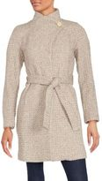 T Tahari Isabelle Asymmetrical Wool-Blend Coat