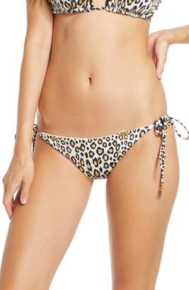 Luli Fama Reversible Leopard Brazilian Ruched Bikini Bottoms