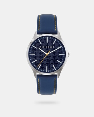 Ted Baker MANHAN Leather strap watch