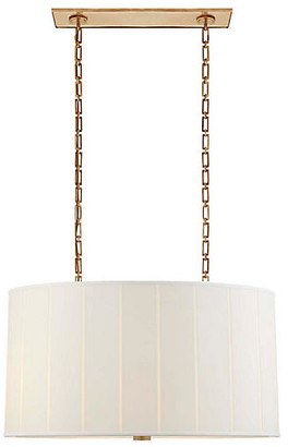 Perfect Pleat Hanging Shade - Soft Brass - Visual Comfort