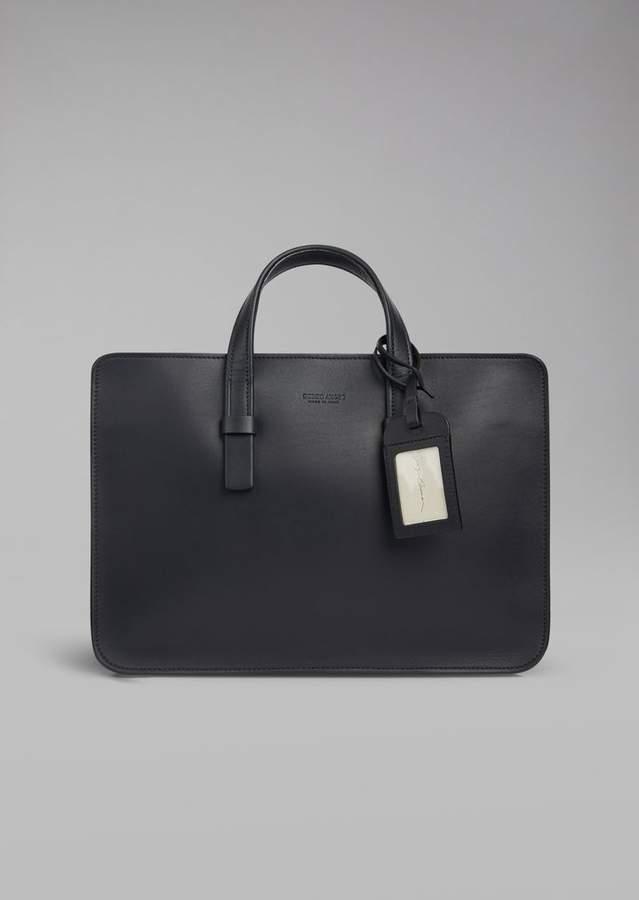 Giorgio Armani Smooth Leather Briefcase
