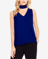 Vince Camuto High-Low Hem Choker Top