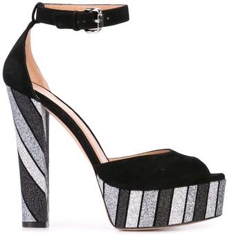Madison.Maison Glitter Stripe Sandals
