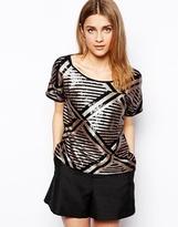 Vero Moda Short Sleeve Sequin Shirt