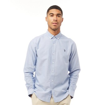 U.S. Polo Assn. Mens Core Oxford Shirt Sky Blue