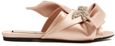 No.21 NO. 21 Crystal-embellished satin slides