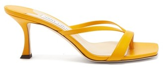 Jimmy Choo Maelie 70 Leather Sandals - Yellow