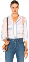 Stella McCartney Striped Blouse in White,Stripes.
