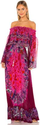 Camilla Long Tiered Ruffle Dress