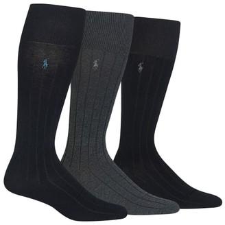 Polo Ralph Lauren Over The Calf Dress Socks 3-Pack