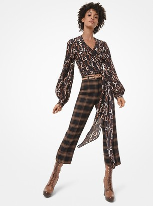 Michael Kors Collection Dance-Print Silk Crepe De Chine Rehearsal Blouse