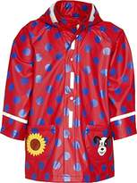 Playshoes Girls Waterproof Dots Raincoat,2 Years (Manufacturer Size:2-3 Years (98cm))