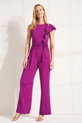 Phase Eight Womens Purple Anasia Frill Jumpsuit - Purple