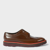 Paul Smith Men's Dark Tan Calf Leather 'Grand' Brogues