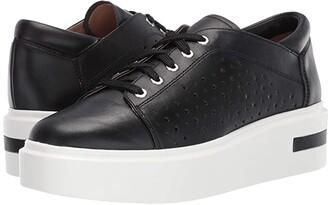 Linea Paolo Kendra Sneaker (Black Leather) Women's Shoes