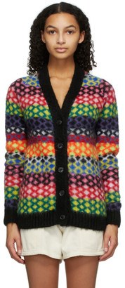 AGR Multicolor Mohair Diamond Cardigan