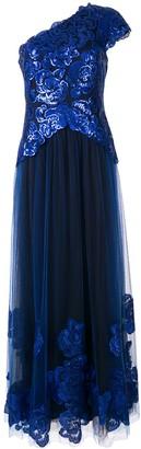 Tadashi Shoji embellished one-shoulder dress