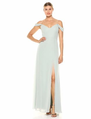 Jenny Yoo Women's Priya Off The Shoulder Long Chiffon Gown