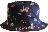 Lrg Deep Sea Mens Reversible Bucket Hat Navy
