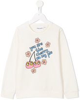Mini Rodini Cherry sweatshirt - kids - Organic Cotton/Spandex/Elastane - 7 yrs