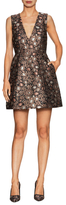 Alice + Olivia Pacey Brocade Lantern A Line Dress