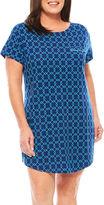 Liz Claiborne Jersey Short Sleeve Nightshirt-Plus