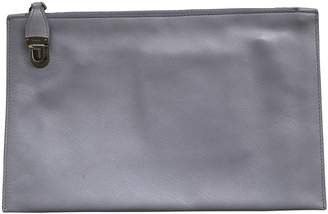 Prada Grey Leather Clutch bags