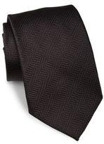 Giorgio Armani Herringbone Silk Tie